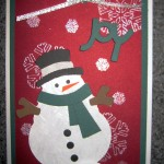 {Almost} Wordless Wednesday – Handmade Christmas Cards by Me