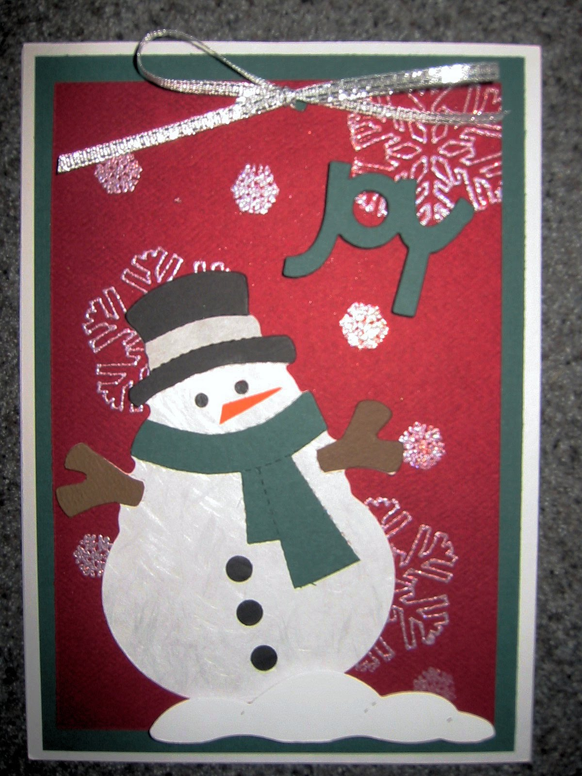 Almost} Wordless Wednesday - Handmade Christmas Cards by Me - MomSpotted