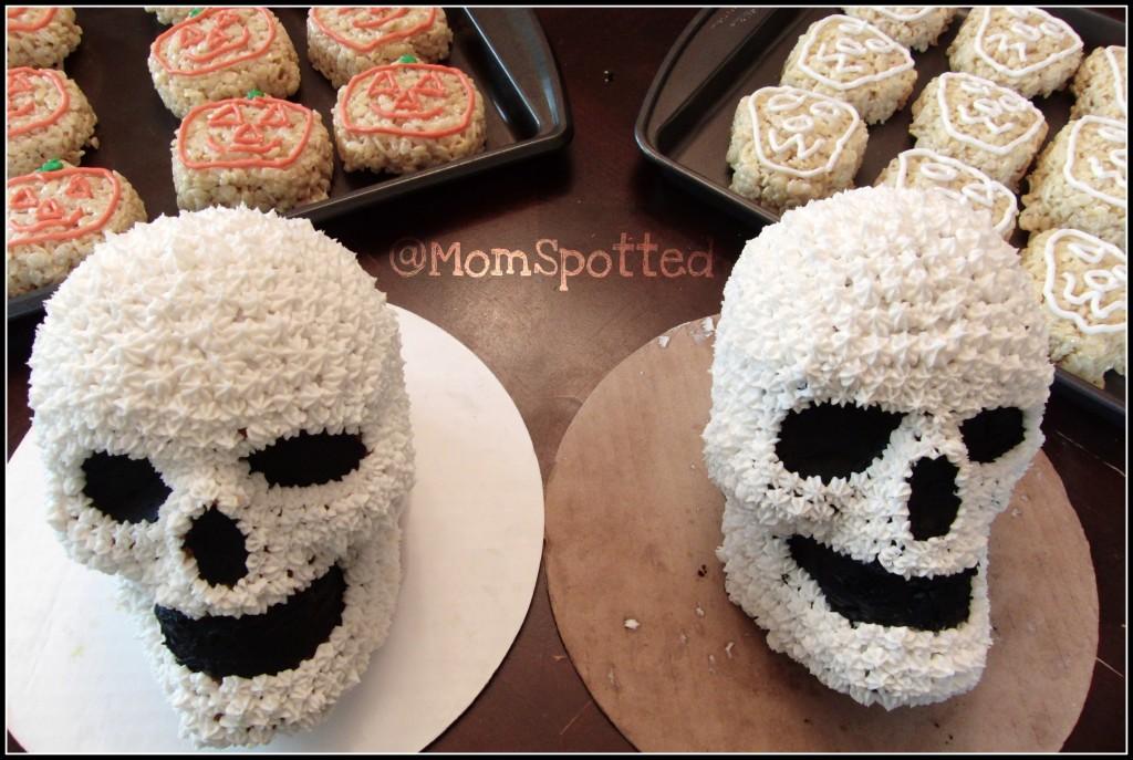wilton skull cakes