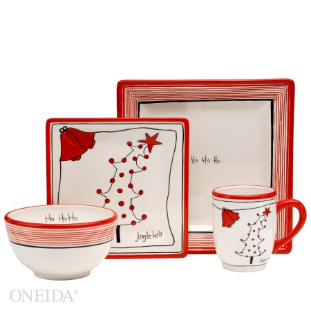What ...  sc 1 st  MomSpotted & Oneida Christmas HoHoHo Dinnerware Review - MomSpotted