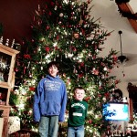 Wordless Wednesday – 16 Foot Christmas Tree & 24 Week Prego Pic! #Linky