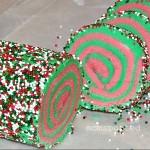 Sprinkled Spiral Christmas Cookies!
