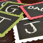 Monogram Chalkboard Gift Tags You Can Make Yourself!