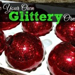 Make Your Own Glittered Ornaments! DIY!