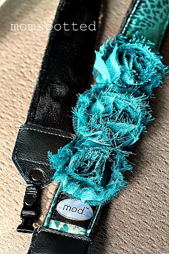 Mod Turquoise Flower Camera Strap with Quick Release