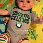Sawyer James Boston Celtics Baby Onesie Cutie Baby Legs