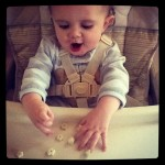 Sawyer eating