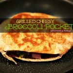 Grilled Cheesy Broccoli Ham & Apple Pockets