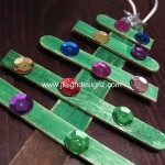 Popsicle Christmas Tree Ornaments your kids will love to make!