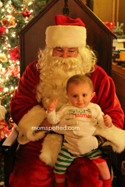 Santa with Sawyer 1st Christmas 2012