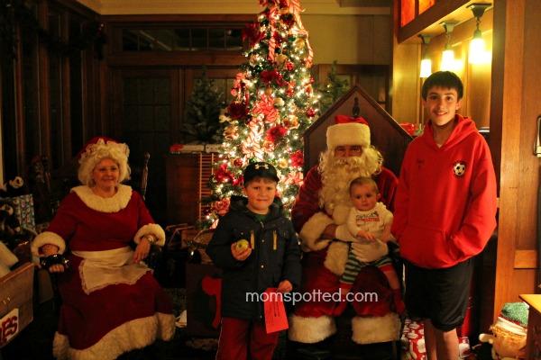 boys with santa 2012
