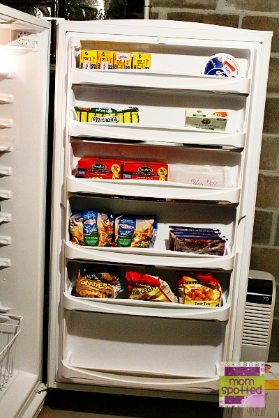 Amana 20.1 cu. ft. Upright Freezer door storage