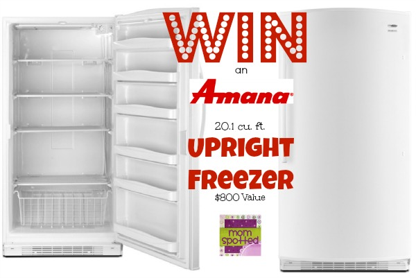 Amana 20.1 cu. ft. Upright Freezer giveaway