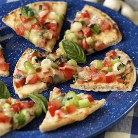 Grilled Tomato & Basil Pita Bread