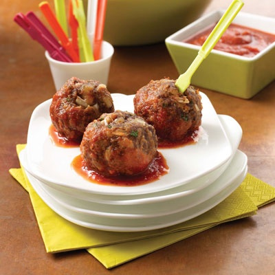 Cheesy Gametime Meatballs