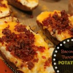 Bacon Loaded Twice Baked Potato Skins Recipe