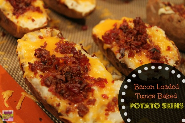 Bacon Loaded Twice Baked Potato Skins   0