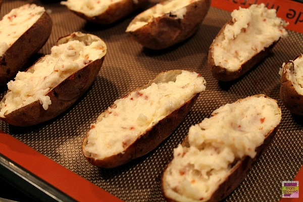 Bacon Loaded Twice Baked Potato Skins 5