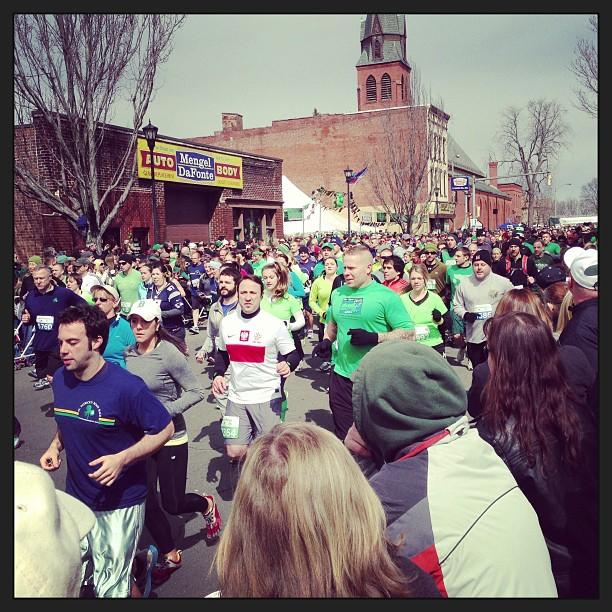 Holyoke, Massachusetts St. Patrick's Day Road Race #momspotted