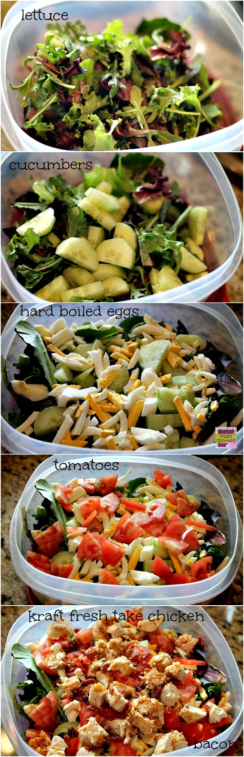 Crispy Chicken Salad with Cheddar & Bacon Kraft Fresh Take # ...