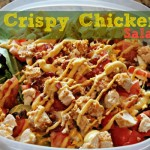 Crispy Chicken Salad with Cheddar & Bacon Kraft Fresh Take #KraftFreshTake #momspotted