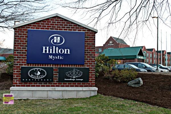 Hilton Mystic Hotel in Mystic CT across from aquarium