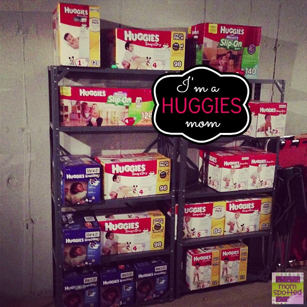 New HUGGIES Little Mover Slip-On Diapers #FirstFit Stock Basement Pile