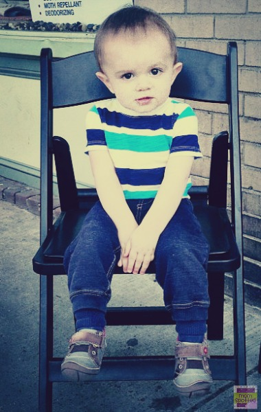 Sawyer in chair May 2013