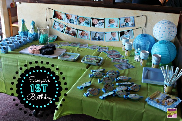 Sawyers 1st Birthday Party Baby Blue Momspotted PartyCity