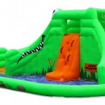 BounceHousesNow.com Water Slide Giveaway! {Gator Island Water Slide by Blast Zone #Review #video}