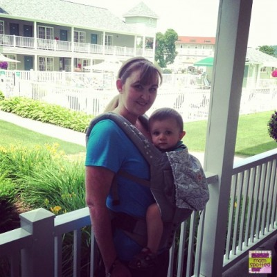 MomSpotted wearing Sawyer in an Ergo Baby Carrier