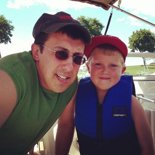 Daddy & Gavin on Boat