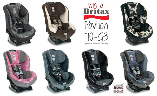 #Britax Pavilion 70-G3 Car Seat Giveaway #momspotted