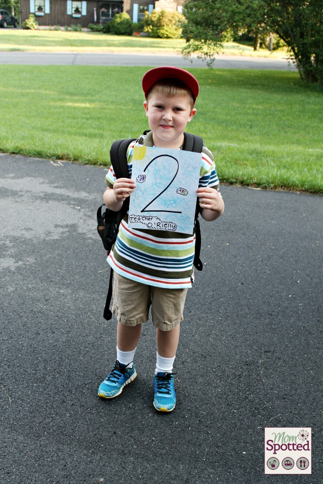 Gavin first day of 2nd grade