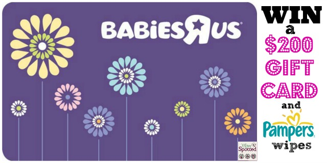 Babies R Us Gift Card & Pampers Wipes Giveaway
