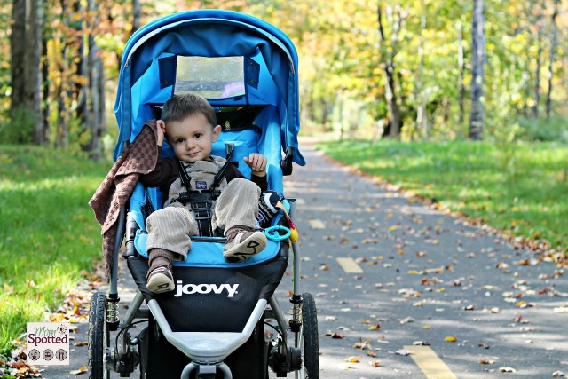 Sawyer James on the Manhan Bike Trail in his Joovy 360 Jogging Stroller