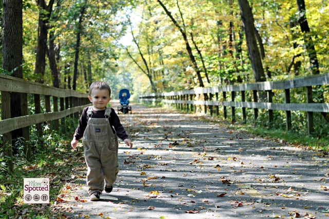Sawyer James running down the Manhan Bike Trail