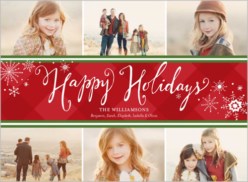 preppy snowflakes christmas card - Shutterfly Christmas Cards
