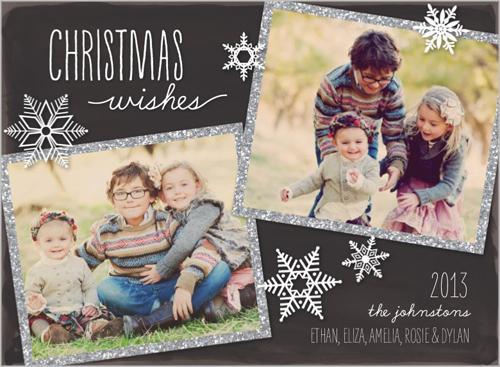 sparkling frame christmas card - Shutterfly Xmas Cards
