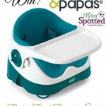 He's in a Booster Seat! Mamas & Papas' Baby Bud Booster Seat {Review & Giveaway}