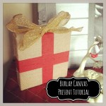 Burlap Christmas Present Decor #Tutorial
