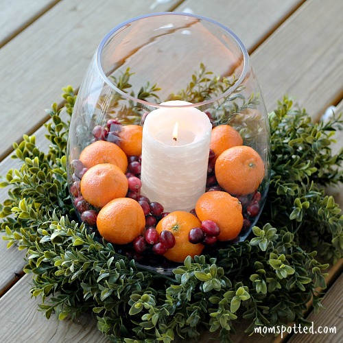 Easy Low Budget Holiday Centerpiece Ideas #HalosFun 1