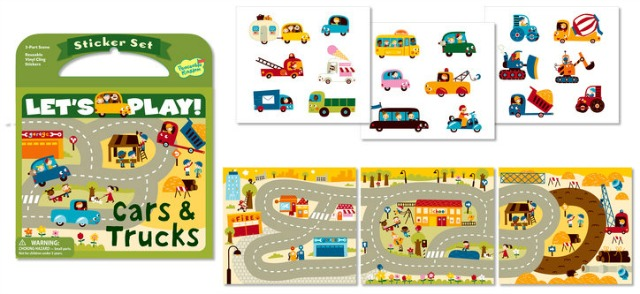 Let's Play! Cars & Trucks Reusable Sticker Set
