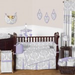 Lavender and Gray Elizabeth Baby Bedding 9pc Crib Set by Sweet Jojo Designs {Beyond Bedding} 10 Bed Set #Giveaway