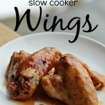 Honey BBQ Slow Cooker Wings Recipe #momspotted 640