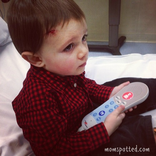 Sawyer Boo boo Stitches- 1st ER Visit