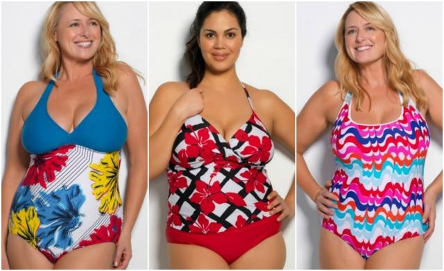 Hapari Plus Size Swimwear Collage #momspotted