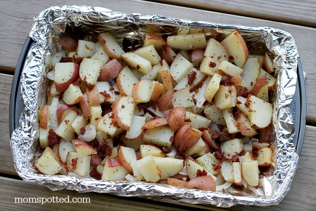 Cheddar Bacon Potatoes Recipe #momspotted