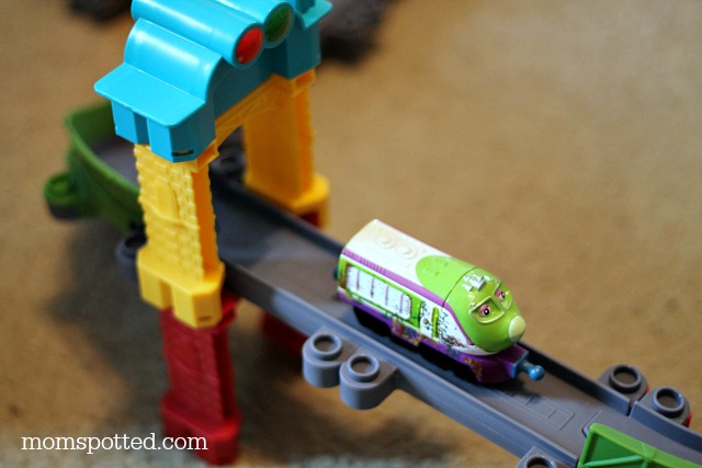 Chuggington StackTrack New Adventures in Old Town Megabuild Train Track #momspotted