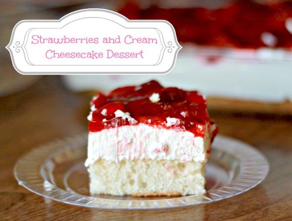 Strawberries and Cream Cheesecake Dessert Recipe